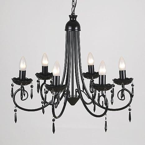 Grande negra diseño 6 way vela ottomanbrim estuches de ...