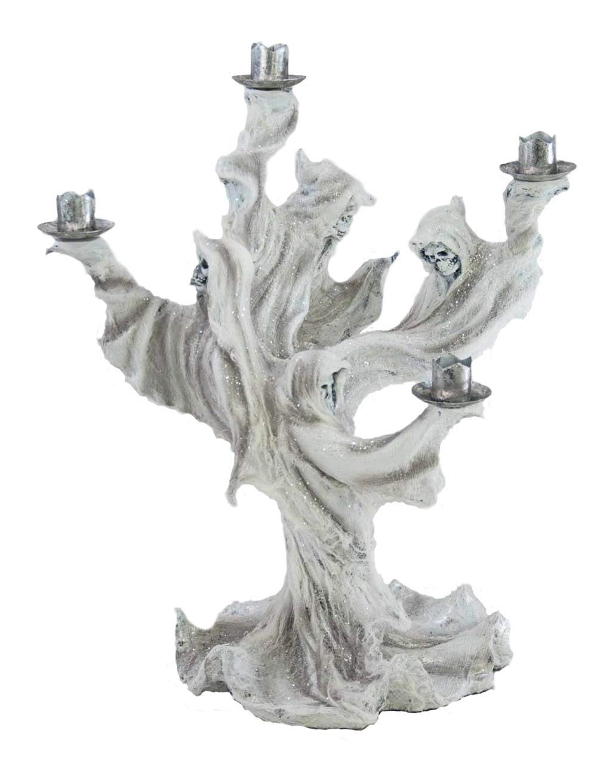 Skeleton Haunted Candelabra 17'' Figurine Halloween