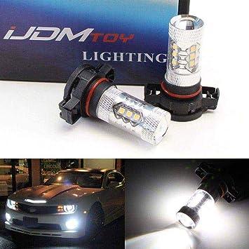iJDMTOY 80W High Power CREE 5200s LED Bulbs For MINI Cooper F55 F56 Halogen Headlamp Trim For Daytime Running Lights Xenon White 2