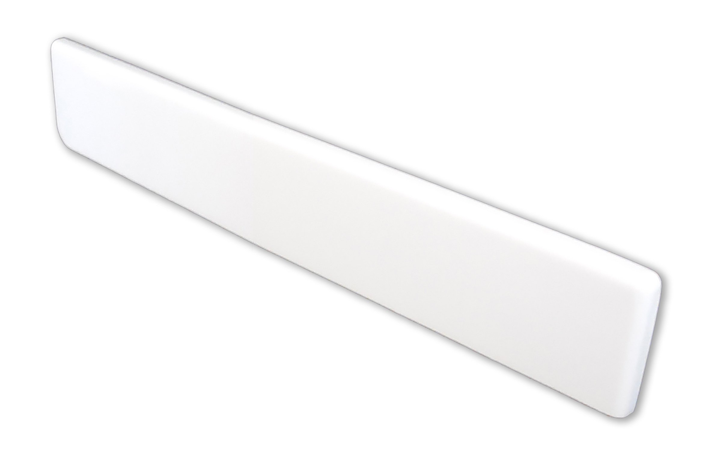 Imperial VR101SPW Right Hand Side Splash for Bathroom Vanity Top, Solid White Gloss Finish, 19-Inch
