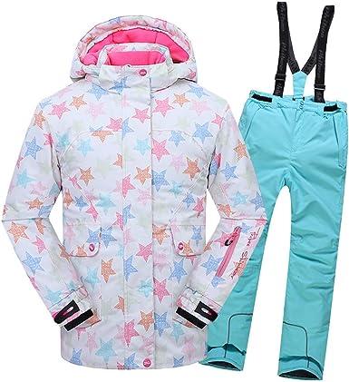 SXSHUN Combinaison de Ski Enfant Unisex Fille