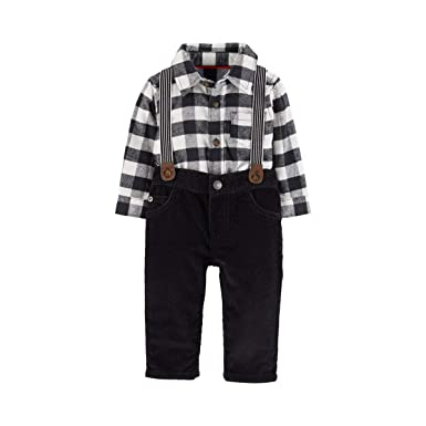 af3bb8a94 Amazon.com: Carter's Baby Boys' Long Sleeve Checkered Bodysuit and ...