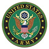 auto window decals army - 4 Pack US Army United States Patriotic Military Auto Decal Bumper Sticker Vinyl Decal For Car Truck Van RV SUV Boat Window Support USA Military (EMBLEM)