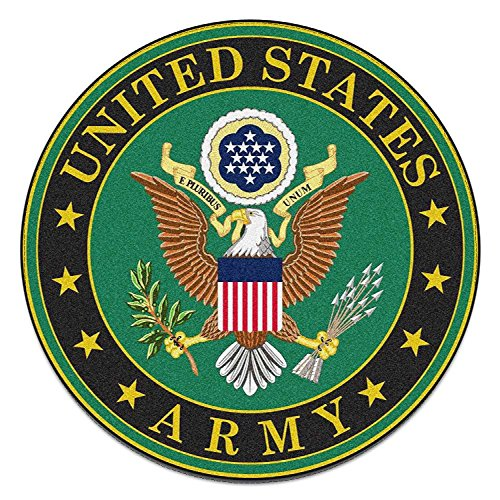 4 Pack US Army United States Patriotic Military Auto Decal Bumper Sticker Vinyl Decal For Car Truck Van RV SUV Boat Window Support USA Military (EMBLEM)