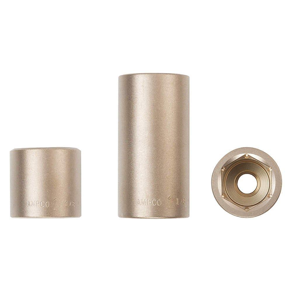 Ampco安全ツールdw-1 / 4d7 / 32ソケット、Deep Well、ノンスパーキングアルミニウム、非磁性、耐腐食性、1 / 4