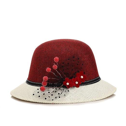 ed9ba759e5f ChenXi Store Kentucky Derby Dress Church Cloche Hat Sweet Cute Floral  Bucket Hat at Amazon Women s Clothing store