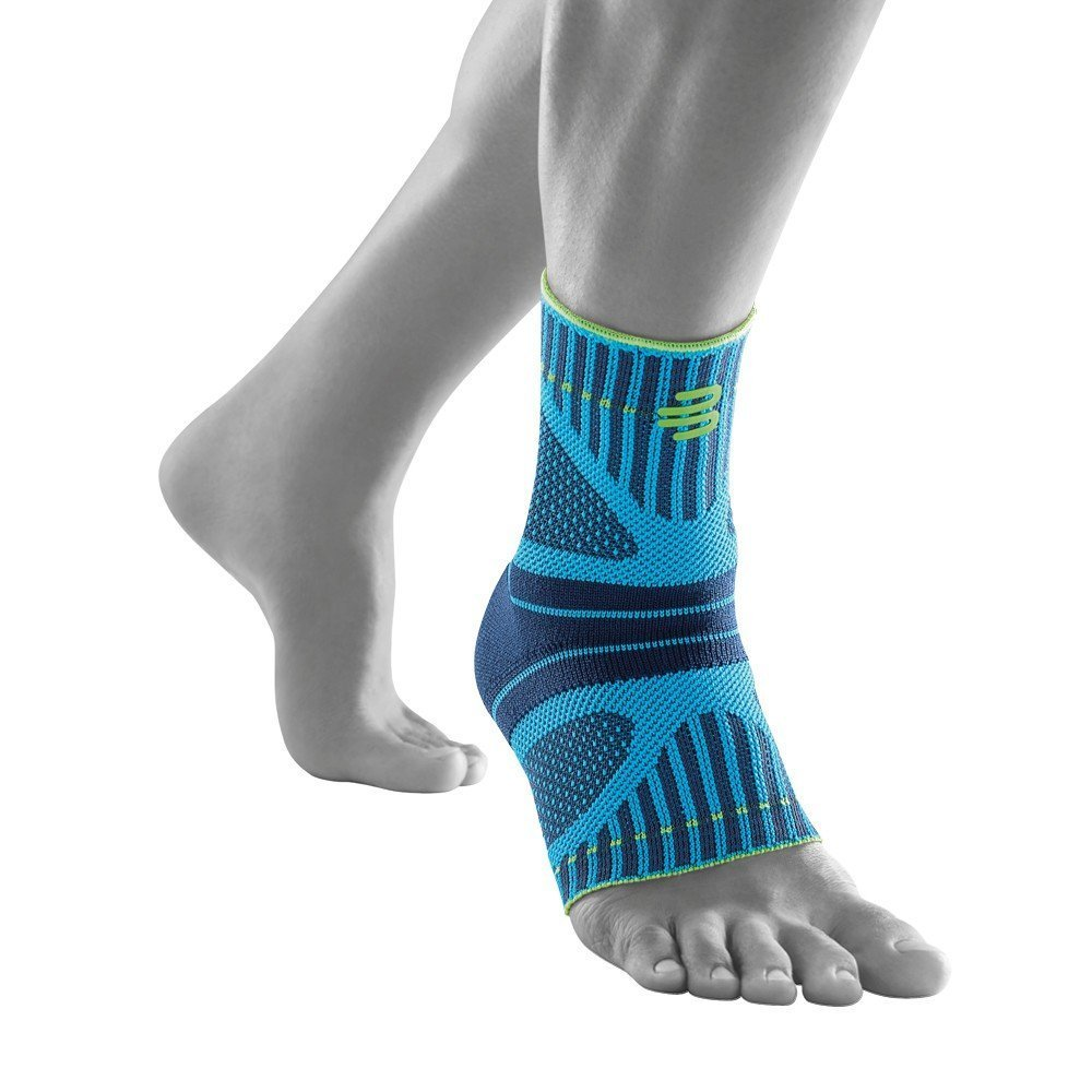 Bauerfeind Sports Ankle Support Dynamic - Ankle Compression Sleeve for Freedom of Movement - 3D AirKnit Fabric for Breathability - Premium Quality & Washable (M, Rivera)