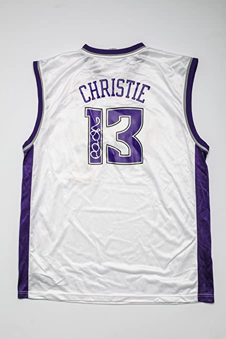 ddb24a523 Sacramento Kings Home Jersey Autographed by Doug Christie at ...