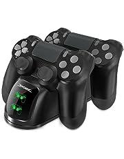 DOBE caricatore del controller per PS4, Dock DualShock 4 con uno schermo per PlayStation 4, PlayStation 4 Slim e PlayStation 4 Pro Controller