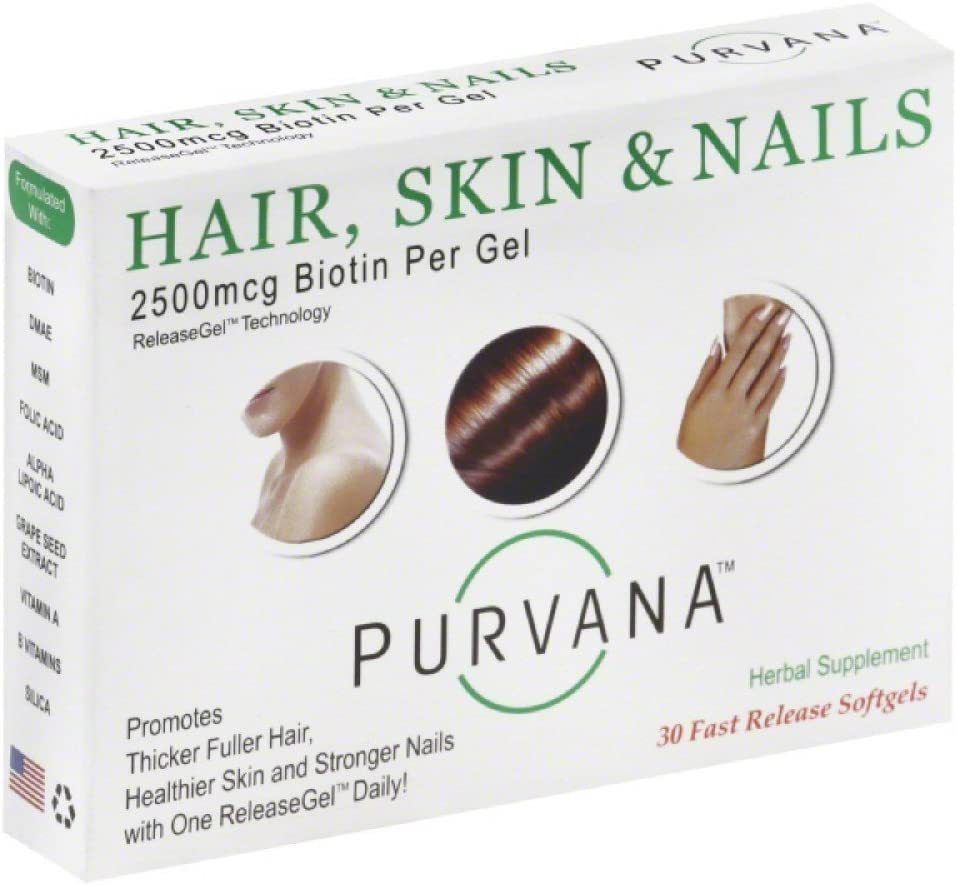 Purvana Hair, Skin and Nails 30 softgels Multi-Pack