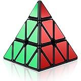 Roxenda Pyraminx Zauberwürfel, 3x3x3 Pyramide Zauberwürfel Sonderwettbewerb Ultra Schnelle Edition; Super-haltbarer Glatter Drehbeschleunigung-Aufkleber mit klaren Farben; Leicht zu Drehen