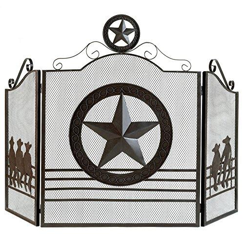 Thegood88 Lone Star Fireplace Screen Texas Western Rustic Decor
