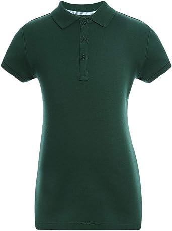 Kids School Uniform Clothes Tommy Hilfiger Long Sleeve Interlock Little Girls Fit Polo Shirt