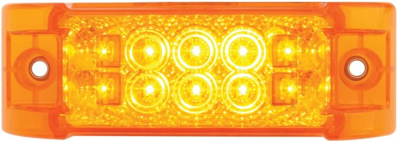 Grand General 76210 Amber Rectangular Wide Angle Spyder 10-LED Marker//Clearance//Turn Light with Amber Lens