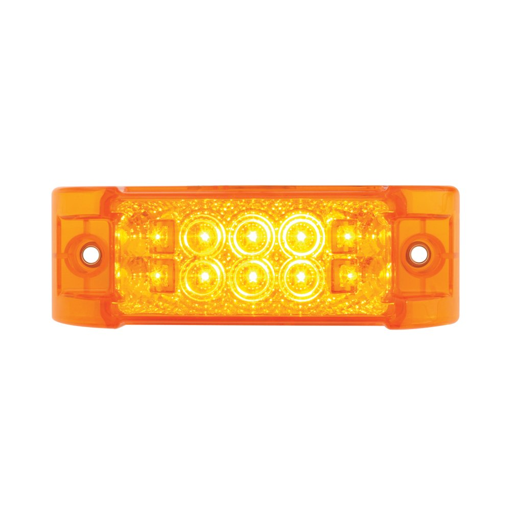 Grand General 76213 Red Rectangular Wide Angle Spyder 10-LED Marker//Clearance//Turn Light with Clear Lens