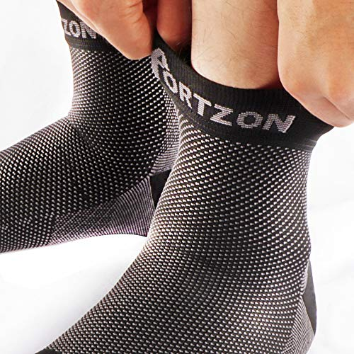 Portzon Compression Foot Sleeves, Plantar Fasciitis Socks with Arch Support, Foot Care Compression Sleeve, Eases Swelling & Heel Spurs, Ankle Brace Support, Relieve Pain Fast by Portzon (Image #4)