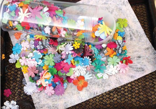 Embellishments Paper Flower (Wildflower Pillar Pack Paper Petals .5 To 2.5 1.2oz-Mixed)