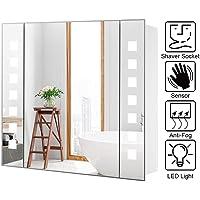 Warmiehomy - Armario de pared con espejo LED