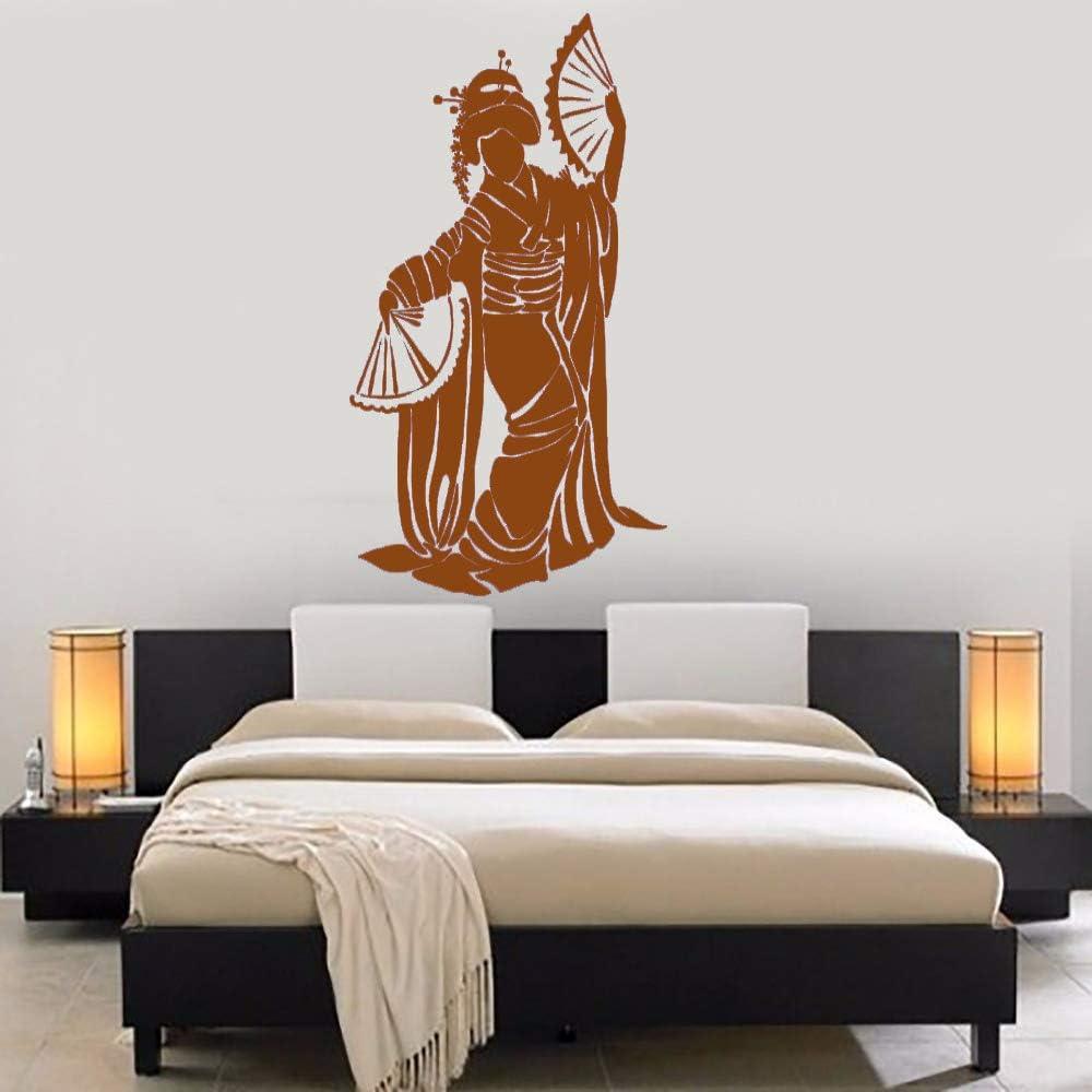 Calcomanías de pared de vinilo para mujeres japonesas bonitas Geisha Japón Chica Pegatinas de pared de estilo asiático Decoración de dormitorio Arte mural Adorno para el hogar L 5 110cmx185cm: Amazon.es: Hogar