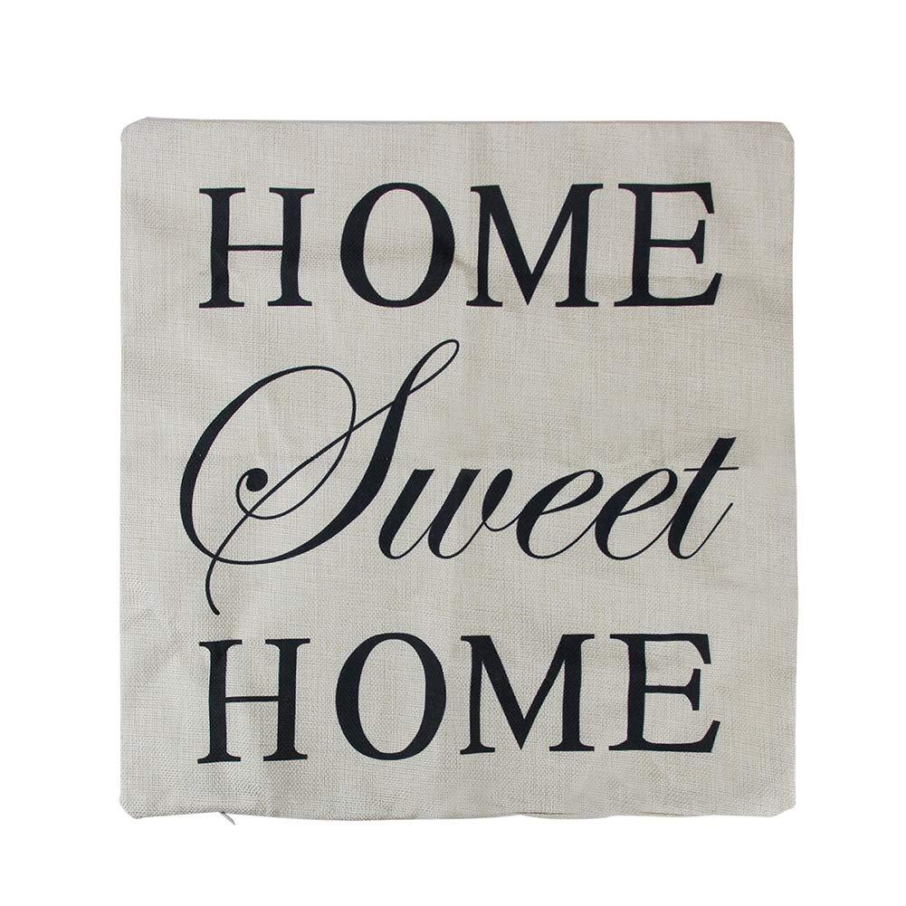 KEYkey Home Sweet Home Funda de Almohada Funda de Almohada ...