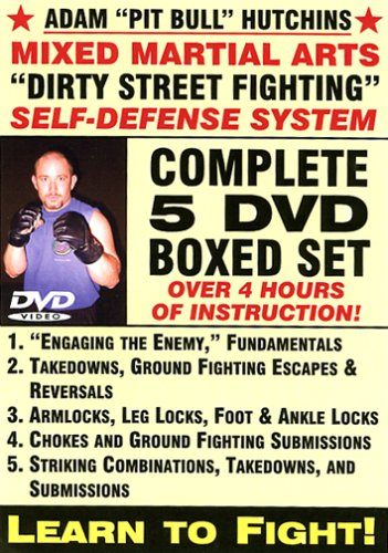 Dirty Street Fighting Self-Defense System - Complete 5-DVD Boxed Set, Starring Adam