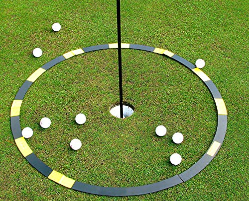 Resource Academy Golf Target Circle - 3 ft Circle as Golf Training Aid - Ideal for Chipping and Pitching - Super Thin with Multiple Configurations