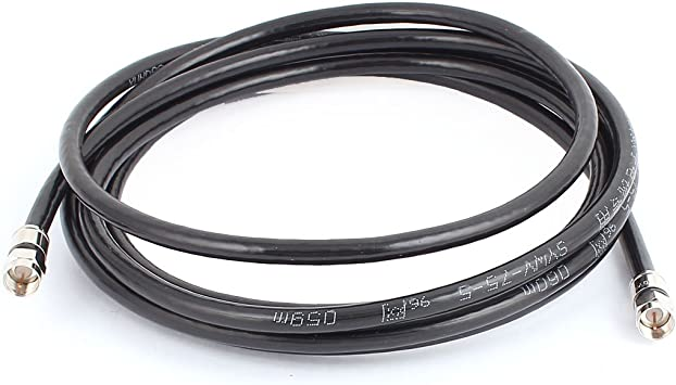 sourcing map 10 ft Negro Cable HD coaxial Antena parabolica ...
