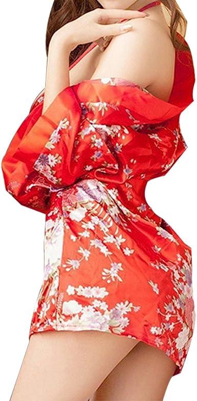 Qiao Nai Kimono Batas Mujer Babydoll de Vestido de Kimono ...