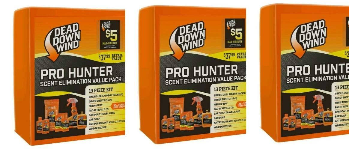 Dead Down Wind Hunting Kit Oder Elimination Pro Hunter 13 Piece Kit (Pack of 3)