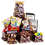 Snack and Sweets Gift Holiday Tower Popcorn Pretzels Nuts Hershey 5 Star