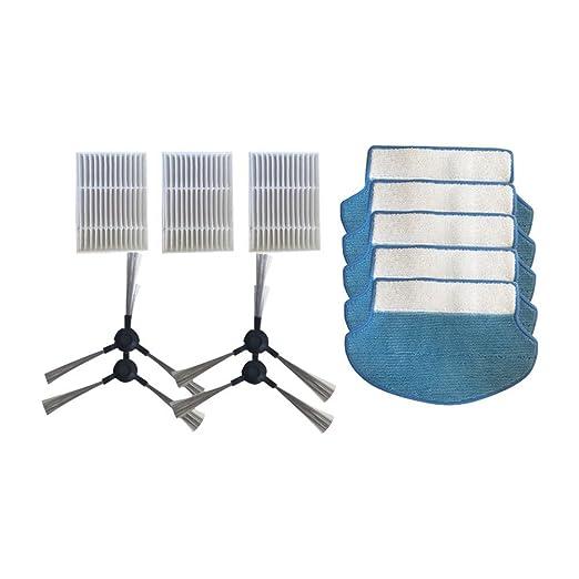 Xinvision 4*Cepillo lateral+3*Hepa Filtrar+5*Trapo de limpieza ...