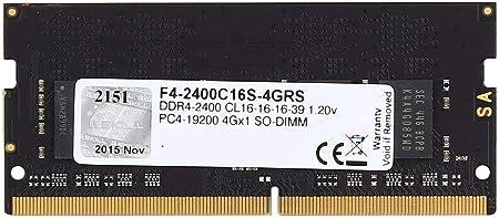 G.Skill Ripjaws SO-DIMM 4GB DDR4-2400Mhz módulo de - Memoria (4 GB ...