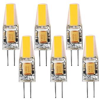 10 Stück G4 LED COB 6W Lampen Stiftsockel Leuchtmittel Warmweiß Birne AC DC 12V