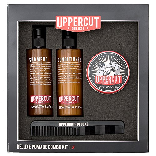 Uppercut Deluxe Pomade Combo Kit - With Shampoo, Conditioner, & Comb
