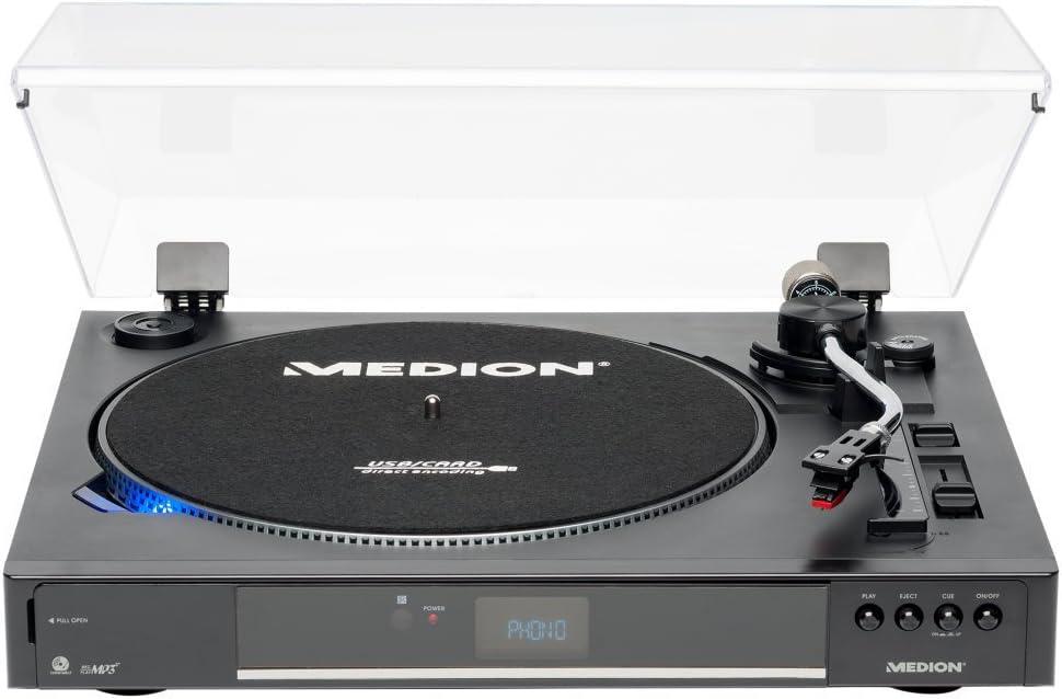 MEDION Life p67003 (MD 83875) USB Tocadiscos (Transmisión por ...