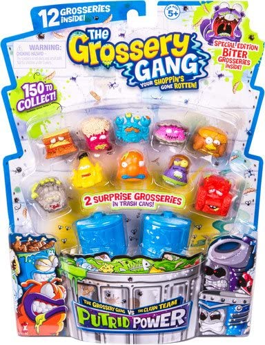 The Grossery Gang Putrid Power Trashcans Lot Of 6 Brand New Blind Bag Style