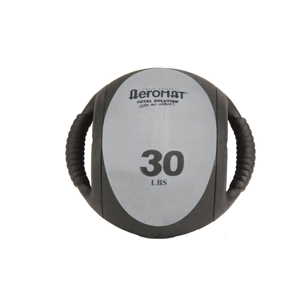Aeromat Dual Grip Power Medicine Ball, 9cm/30-Pound, Black/Gray