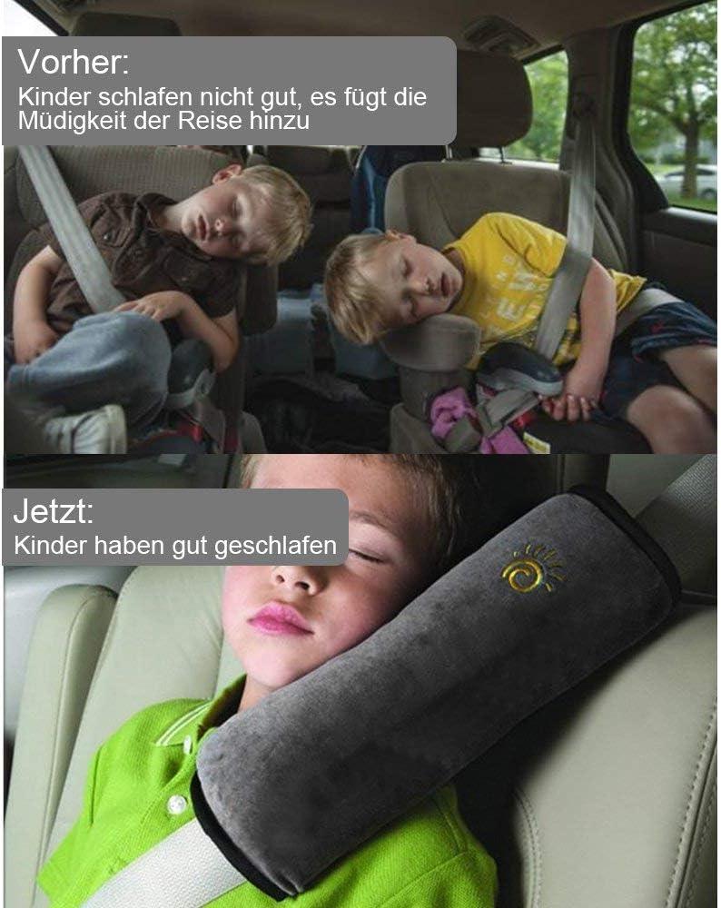 Greneric Lot de 2 housses de ceinture de s/écurit/é universelles pour ceinture de s/écurit/é de voiture Protection d/épaule Coussin de ceinture de s/écurit/é pour enfants et adultes