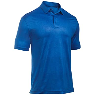 23f43dfd53 Under Armour 2017 Mens Crestable Playoff Tweed Polo - Blue Marker - M:  Amazon.co.uk: Clothing