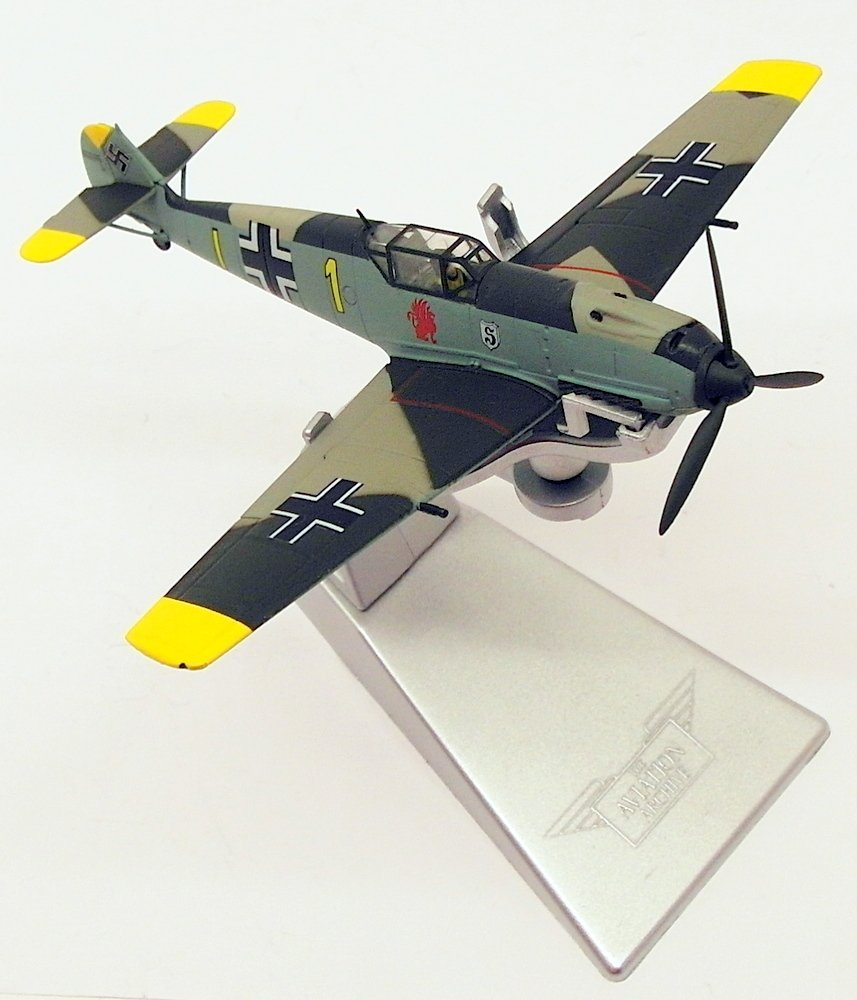 Corgi AA28004 Messerschmitt bf109e-4 Giallo 2,5 cm Oblt. Gerhard Schopfel Battle of Britain Model