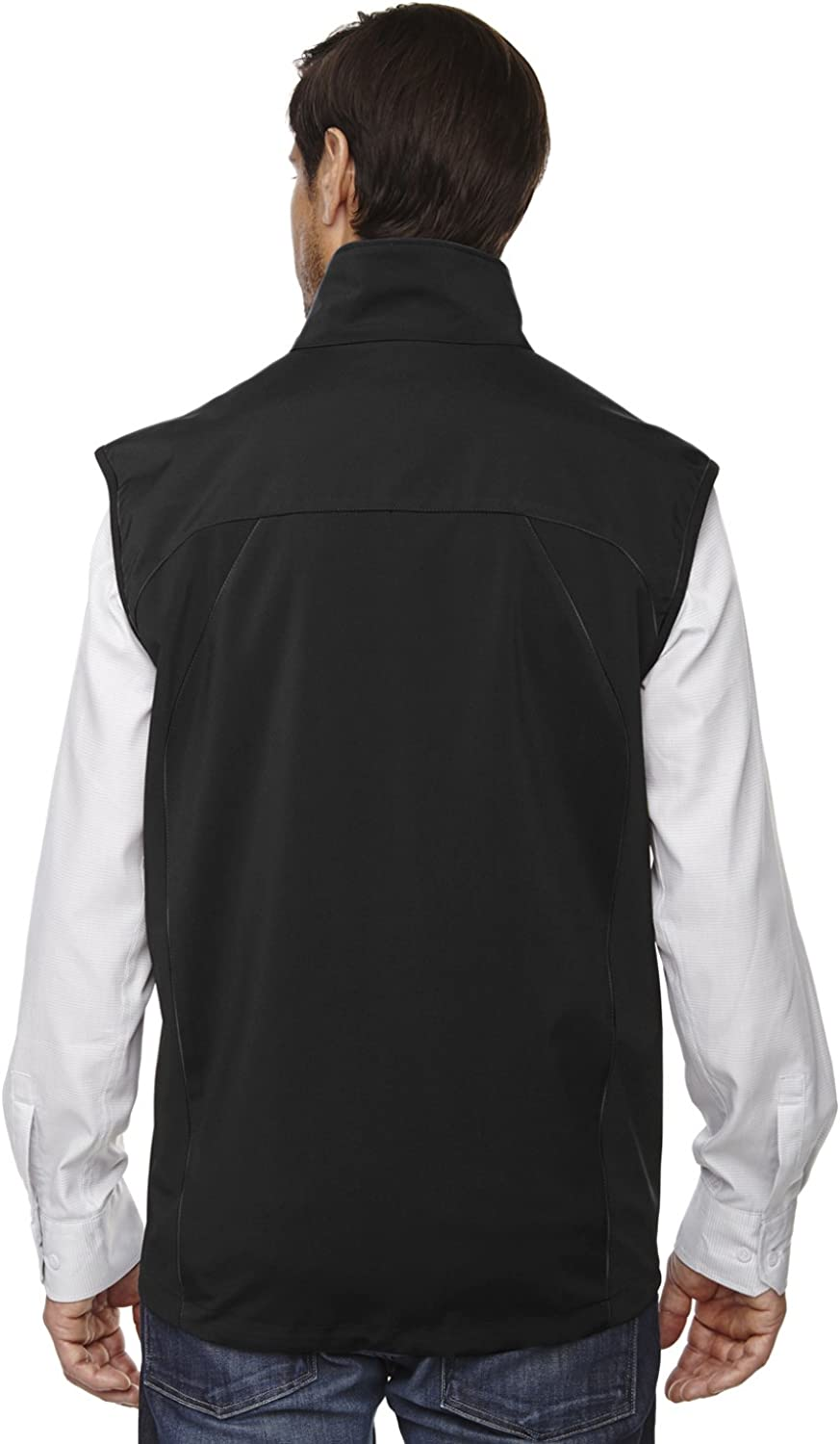 North End Mens 3-Layer Soft Shell Performance Vest