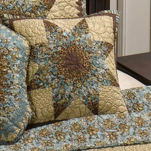 Star Toss Pillow - Donna Sharp Sea Breeze Star Quilted Cotton Star Throw Pillow