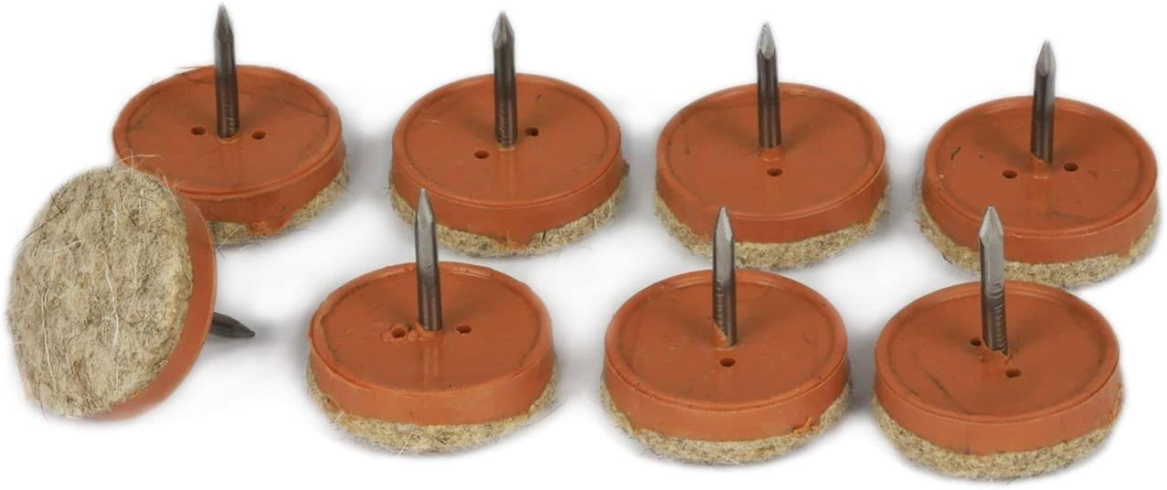 K.D.J Brand Protectores de Fieltro Clavo Made in Germany 18 mm /Ø 5 mm Espesor 12 Unidades