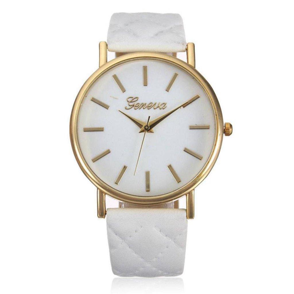 Poto 2017ファッション新しい女性カジュアルGeneva RomanレザーバンドVogueアナログクオーツ腕時計Graceful ホワイト B071H5Q3Z9 ホワイト ホワイト