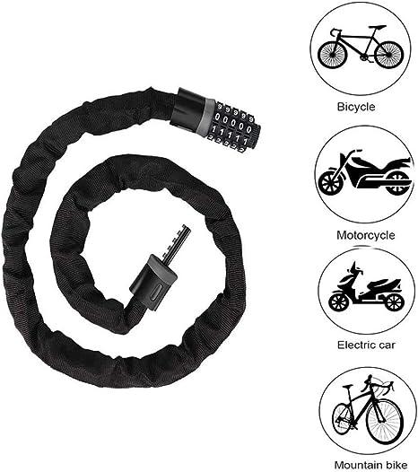 Cerradura de Bicicleta, cerraduras antirrobo para Exteriores de ...