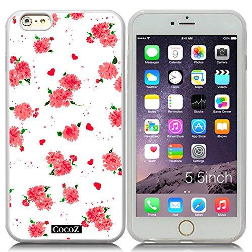 Diamond Patterned Tie (New Apple iPhone 6 Plus 5.5-inch CocoZ?Case Beautiful flowers designs TPU (Transparent TPU & Beautiful Flowers)