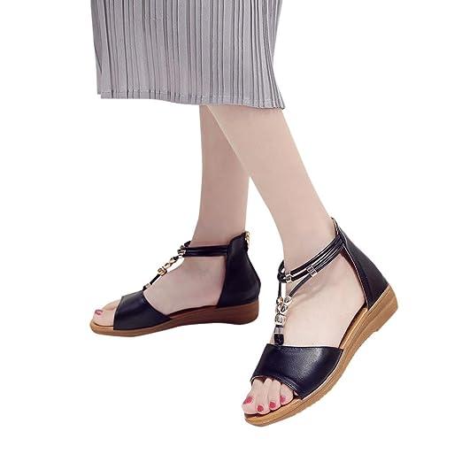 455be7f2bc6e1 Amazon.com  Aurorax Womens Girls Flip Wedge Sandals Hot Sale Summer ...