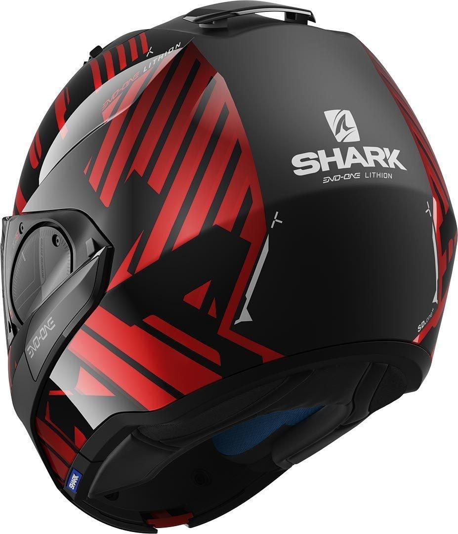 Noir//Anthracite XS Shark Casque moto EVO-ONE 2 LITHION DUAL AKA