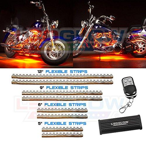 orange motorcycle led lights - 7