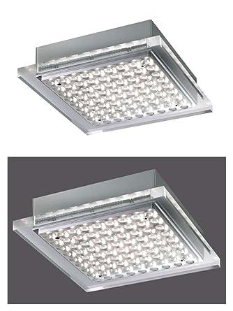 LED Lámpara de techo plafón Piso lámpara foco techo (Acero ...